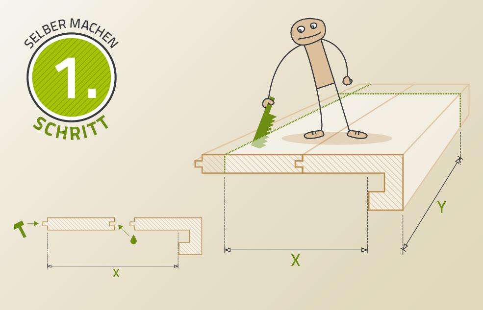 Montage der Parkettstufen auf Ihre Treppe
